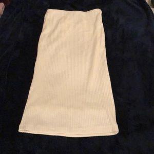 White rubbed skirt